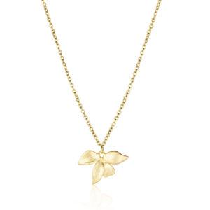 Halskette mit Orchidee Blatt
