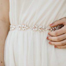 Sissi Brautgürtel roségold
