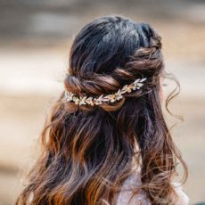 Amelia Haarschmuck groß Farbe Gold