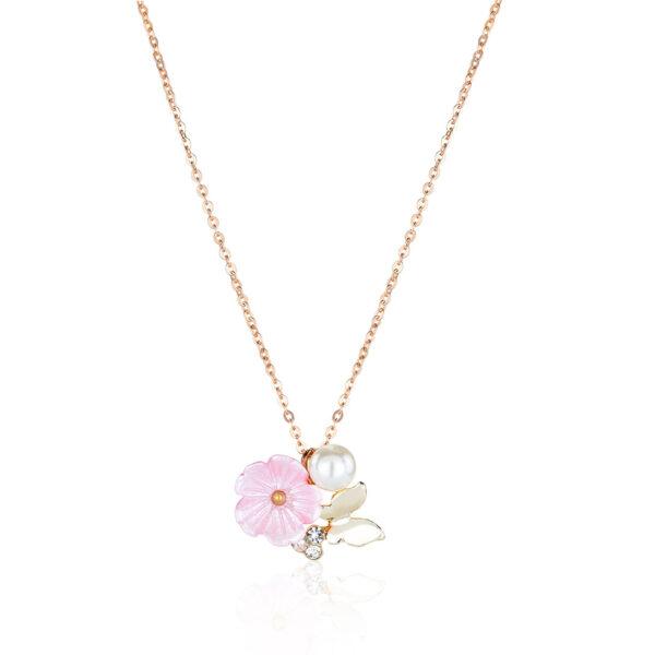 EMMA Kette Blume Farbe roségold