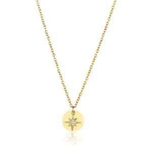 CIRCLE Kette mit Stern, Farbe: Gold