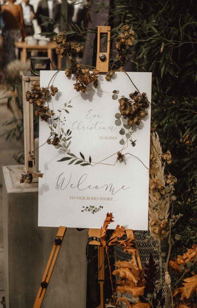 Unsere Boho-Hochzeit