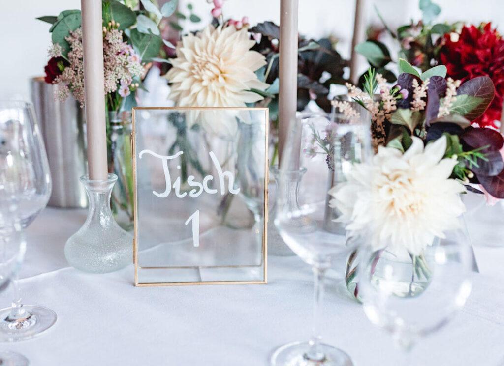 Tischdecke-Hochzeit