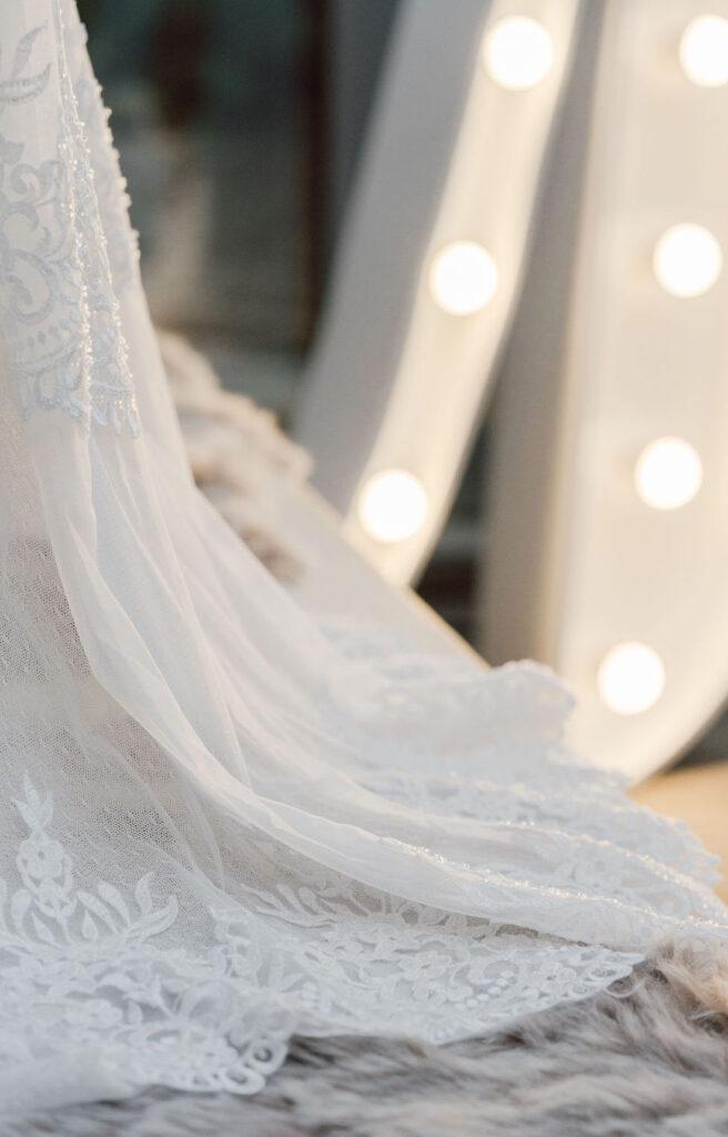 Brautkleid-Detail
