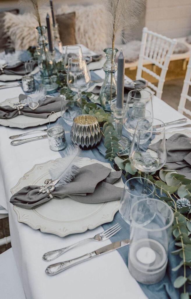 Hochzeitsdeko-Greenery